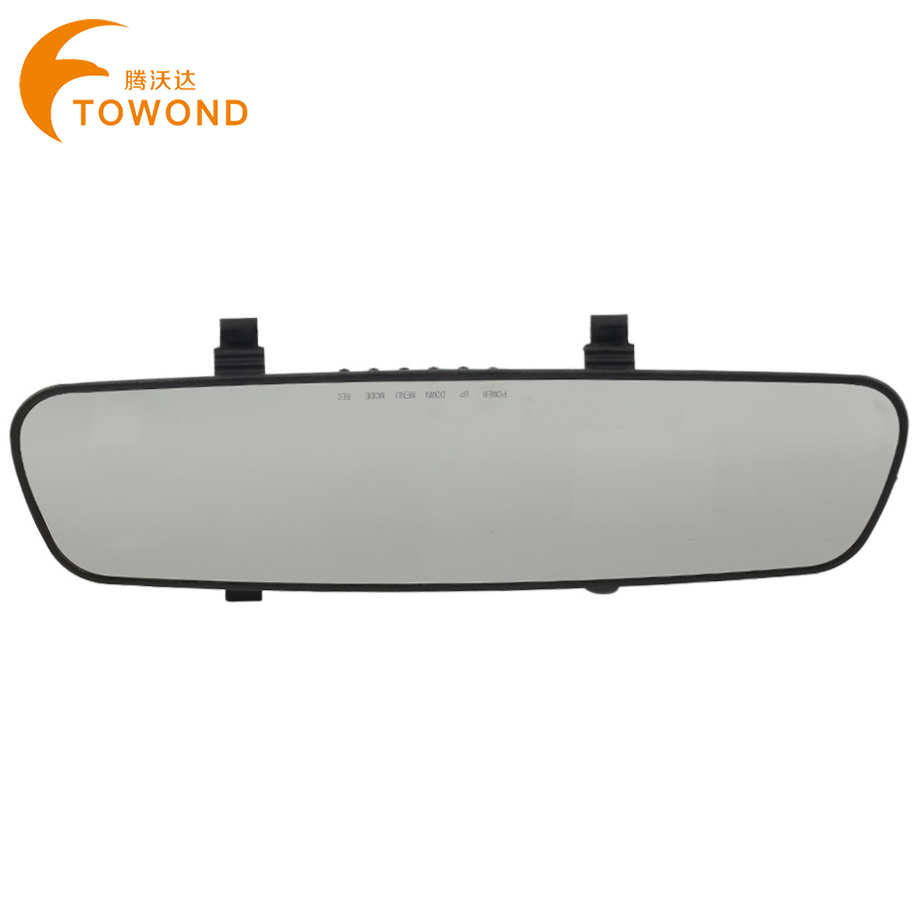 Best Factory Price for Russian Car Mirror DVR Camera 100 Degrees Wide Angle Lens Dash Cam Vehicle Parking Video Recorder TW067(China (Mainland))