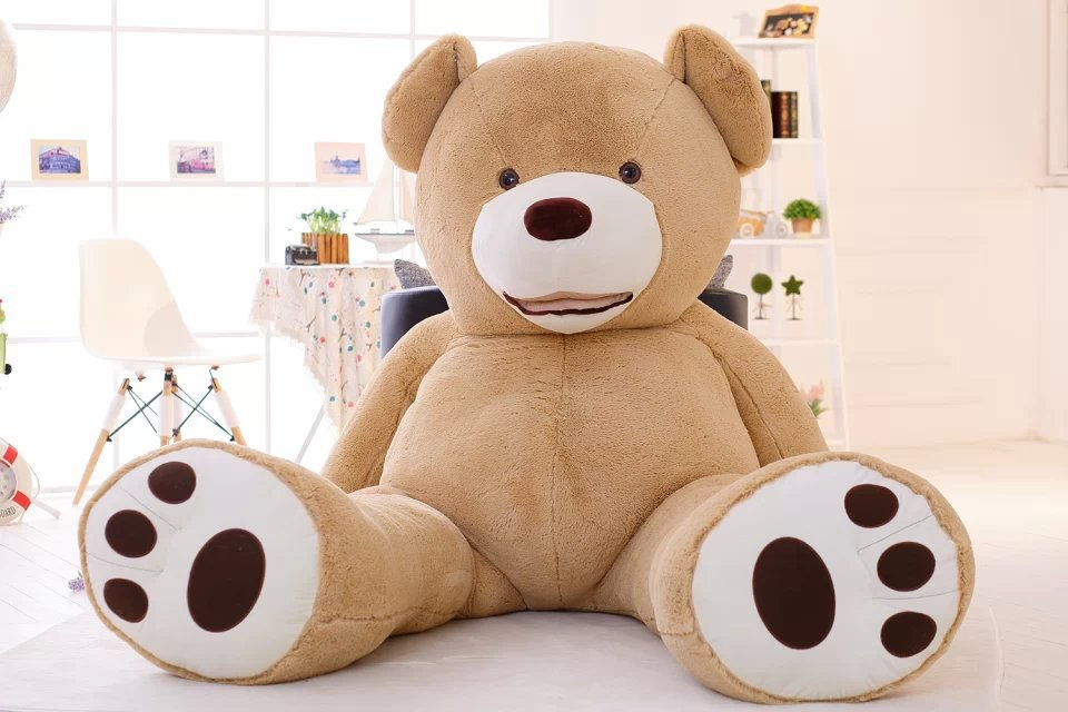 super huge smile bear toy skin, no fillings , 260cm empty teddy bear plush toy bear case toy gift w9499(China (Mainland))
