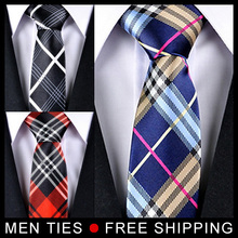 Men Ties Brand New Lattice Chequer Neckties Classic Man tie 5cm Wide 5pcs/lot Mix Order , 5 Styles available, Free shipping