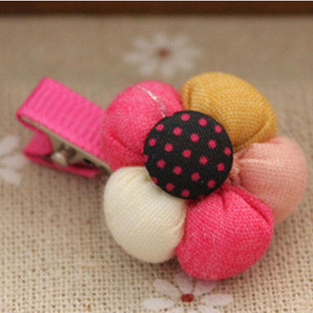 2015 новое поступление милый цветок заколки детей конфеты цвет заколки для новорожденных ...