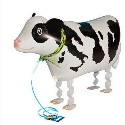 whosale 10pcs/lot Walking My Own Pet Balloons Farm Animals Edition cow walking balloons free shipping(China (Mainland))