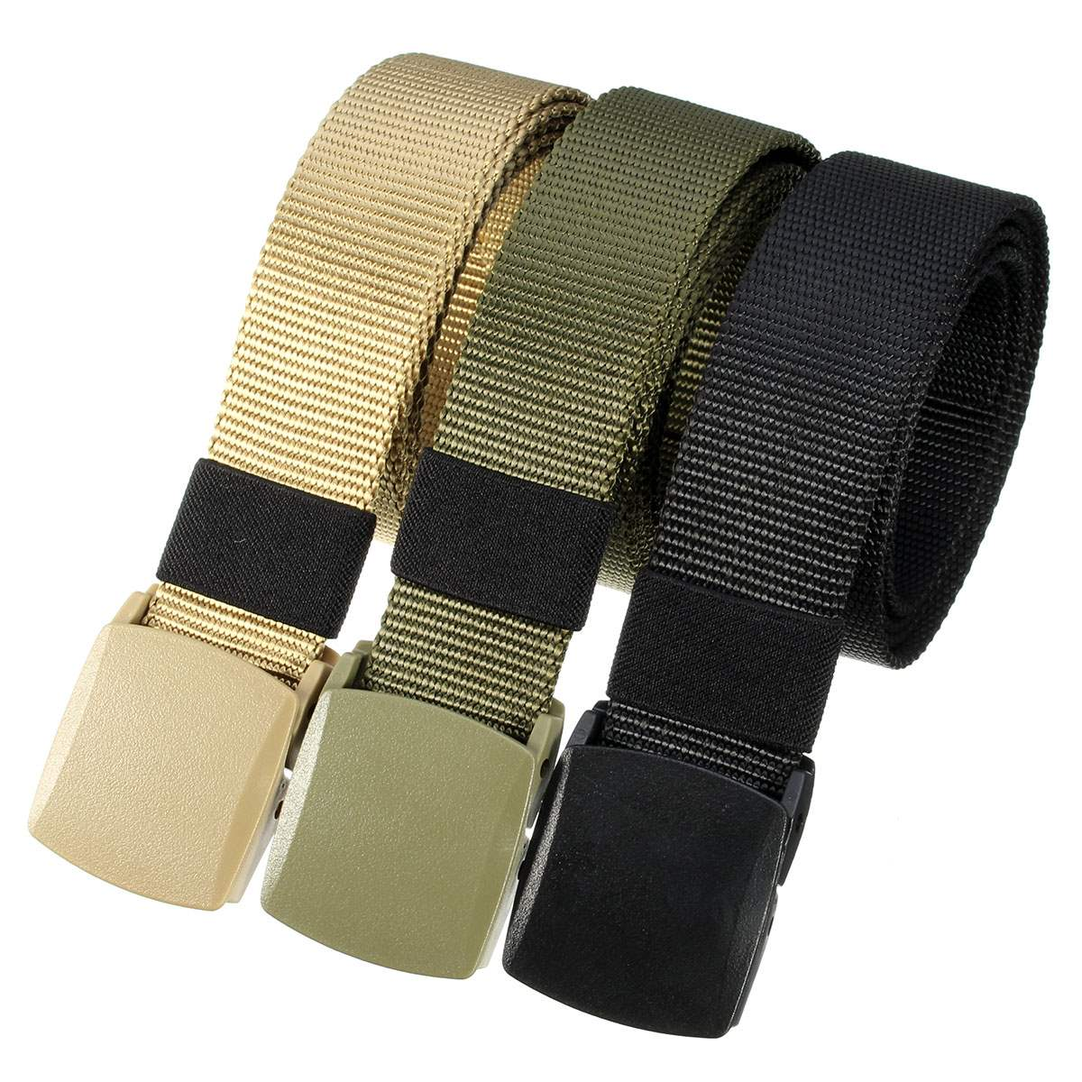 Quick-drying Automatic Buckle Polyester adjustable Belt Army Tactical Hunting Waistband Outdoor Military Rescue Survival Belt<br><br>Aliexpress