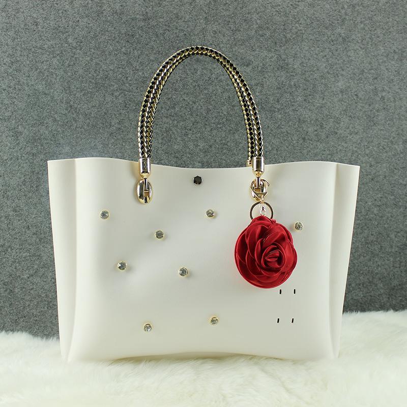 Popular brand 2015 Fashion candy color jelly bags High Quality Rubber handbags women's handbag messenger(China (Mainland))