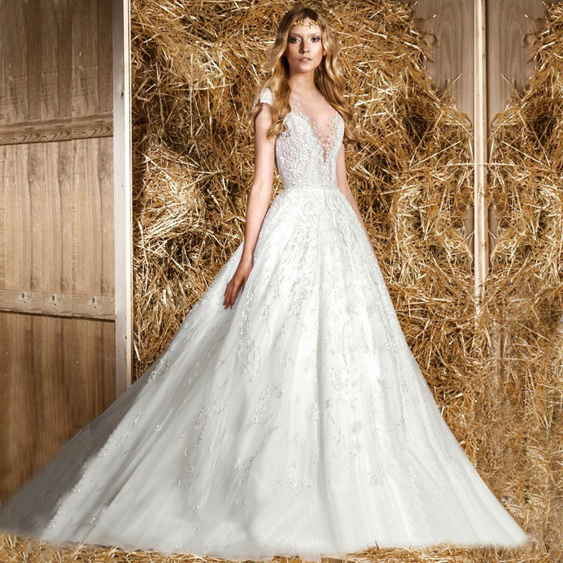 2015 new sexy french best wedding dress classic romantic for French couture dresses