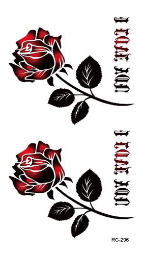 RC2296 Sexy Waist Shoulder Water Transfer Tattoo Decal Waterproof Temporary Tattoo Sticker Black Gold Rose Fake Tattoo(China (Mainland))