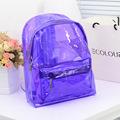 Mochila Transparente 2017 New Transparent Clear Plastic Backpack Candy Color Women Jelly Bag Beach Bolsa Transparente