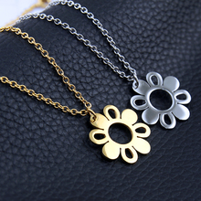 Buy Korean Fashion Hollow Daisy Flower Design Pendant Necklace CharmsStainless Steel Clavicle Chains Women Trendy Statement for $2.73 in AliExpress store