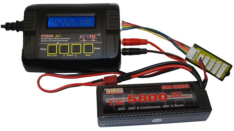 680AC RC lipo charger for RC car/helicopter/airplane/quadcoper/boat/toy/model with the best price(China (Mainland))