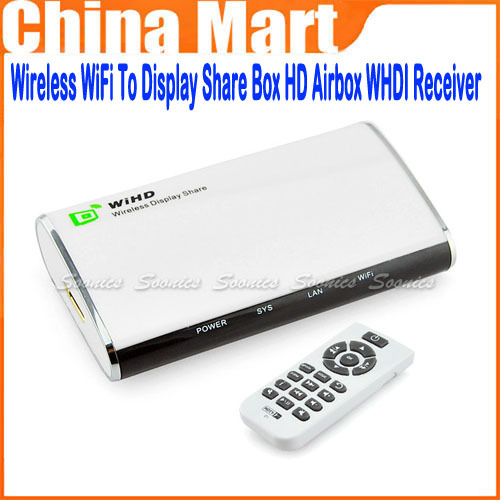Wireless WiFi To Display Share Box HD Airbox WHDI Receiver HDTV Media Player(China (Mainland))