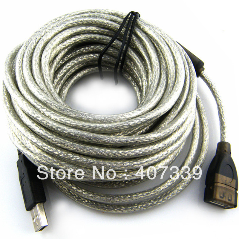 30FT 10m Male to Female USB extension cable USB 2.0 Active wireless usb cable, Enhance WIFI Signal, with Chip(China (Mainland))