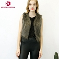 Sinofashion 2016 New European Classic Fashion Faux Fur Vest Women Short Jacket