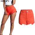 Summer Women Shorts 2017 Summer Denim Shorts Women Cotton Candy Color High Waist Short Pants Sexy