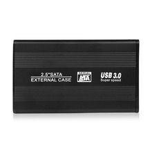 2.5 Inch HDD Case Sata to USB 3.0 Hard Drive Disk SATA External Storage Enclosure Box with USB Cable(China (Mainland))