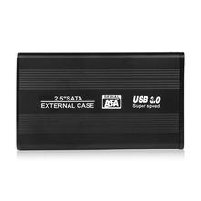 2.5 Inch HDD Case Sata to USB 3.0 Hard Drive Disk SATA External Storage Enclosure Box with USB Cable(China (Mainland))