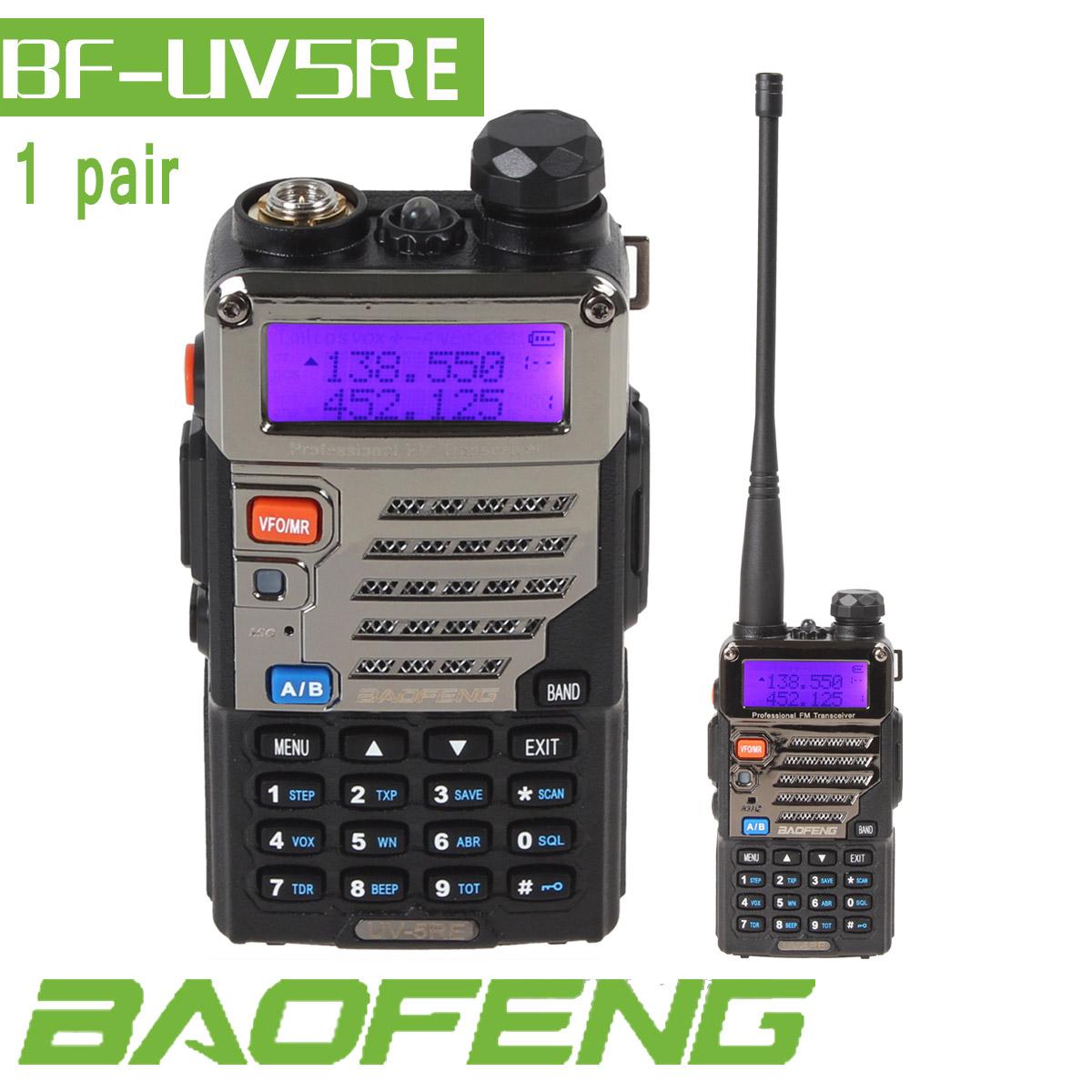 Portable radio Baofeng UV-5RE Dual Band UHF/VHF 36-174MHz/400-480Mhz Two Way Radio Walkie Talkie Handheld Transceiver 2pcs/lot(China (Mainland))