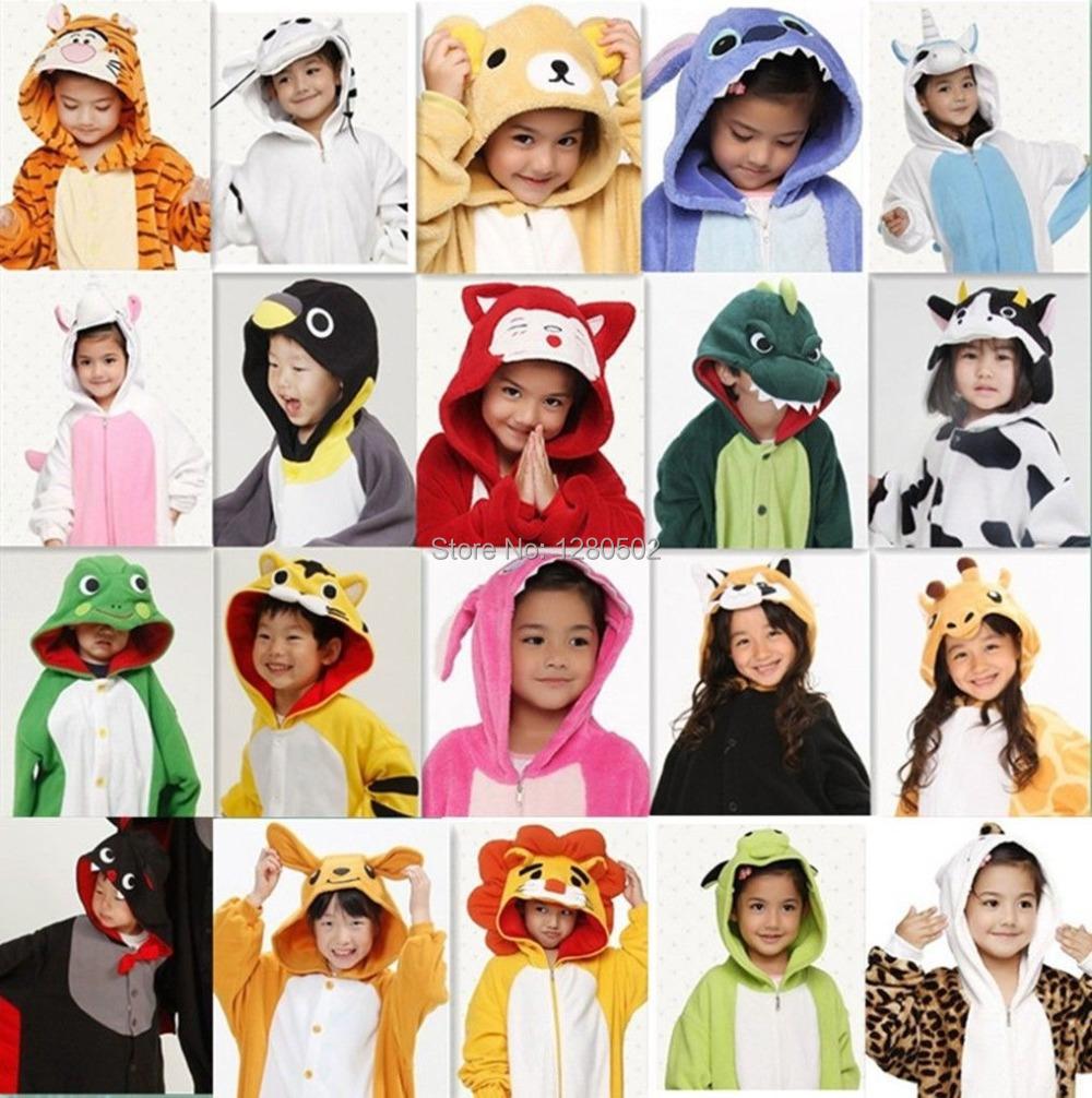 Free Ship Children Kids girls boys Winter Unisex Pajamas Cosplay Costume Animal Onesie Sleepwear Fox Zebra Bat Wolf Devil Panda Одежда и ак�е��уары<br><br><br>Aliexpress