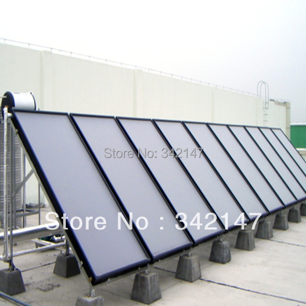 Best quallity and low price flat panel solar collectors with SRCC Solar Keymark CE CCC