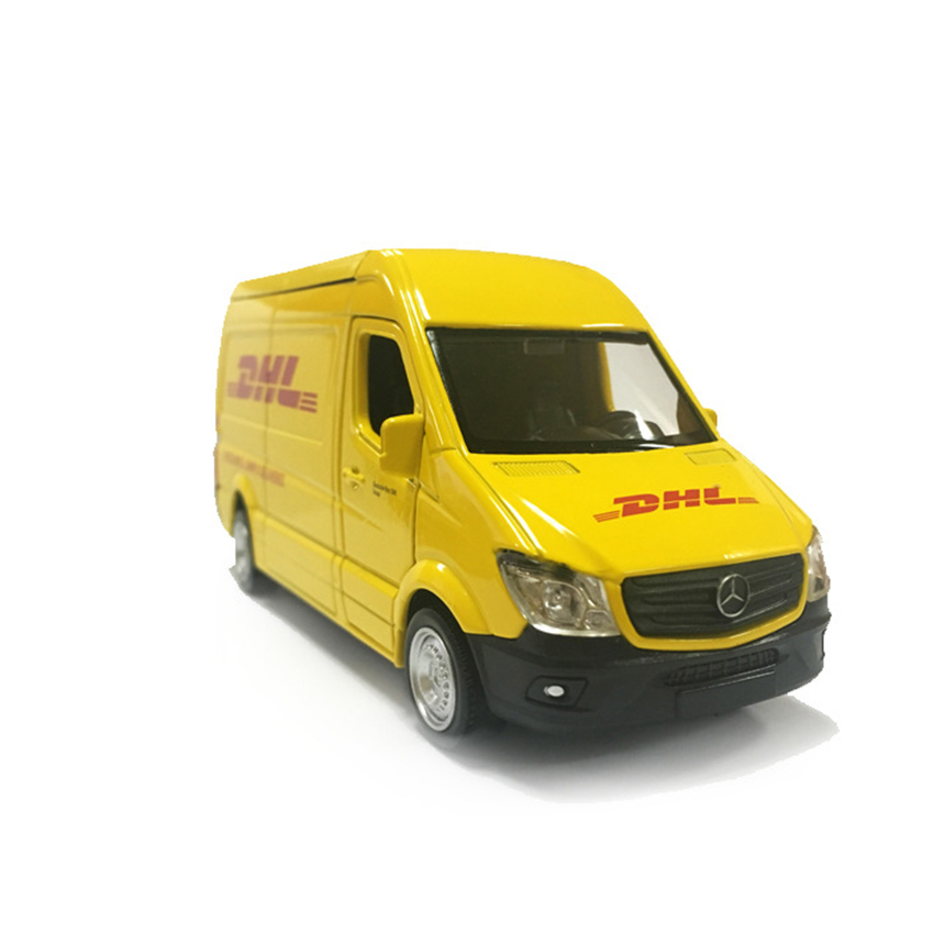 RMZ City 5 Inch Benz Truck DHL 1:32 Toy Vehicles Alloy Pull Back Mini Car Replica Authorized By The Original Factory Model Toy(China (Mainland))