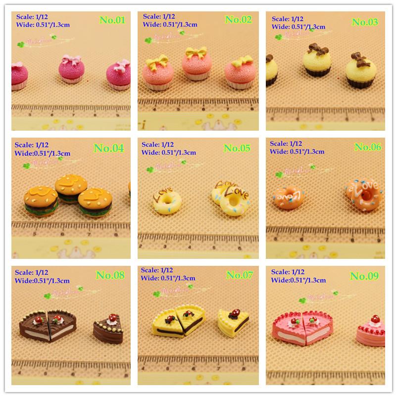1/12 Scale Dollhouse Miniature Food Toy Hamburger Cake Donut Accessory/Lot 9pcs<br><br>Aliexpress