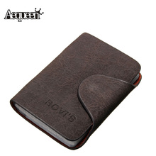 20 Bits Business ID Credit Card Holder/Case Nubuck PU Leather Buckle Fold Men Cards Holders Slots Wallet Business Card Package(China (Mainland))