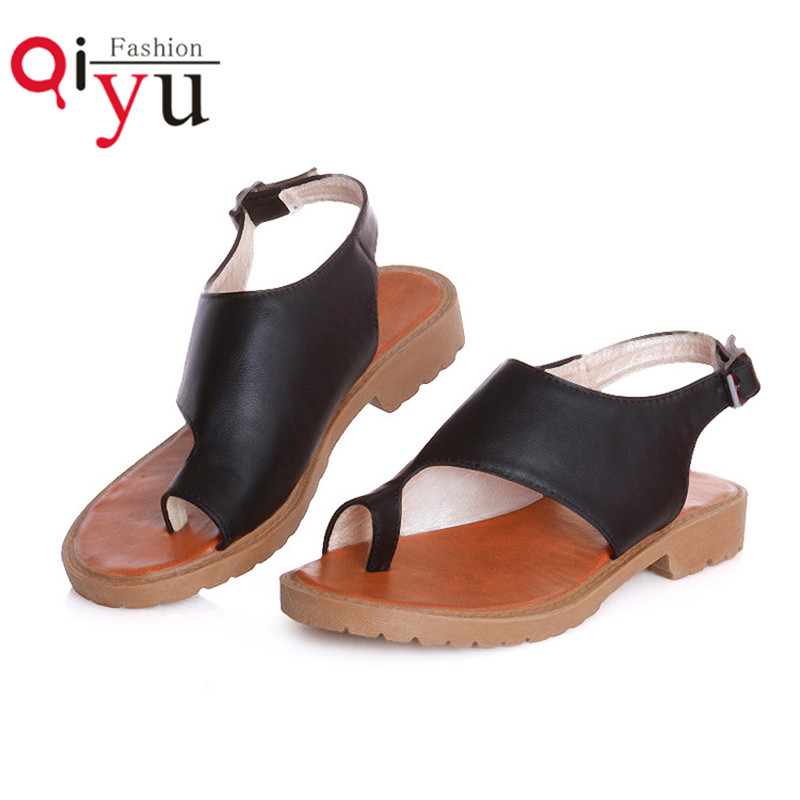 2016 New Arrived Ladies Thongs Shoes Gladiator Sandals Women Summer Fashion Brand Shoes Flat Sandals Pu Casual Flat Heel 34-39<br><br>Aliexpress