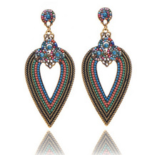 long big chandelier vintage plastic crystal earrings fashion jewelry wholesale free shipping(China (Mainland))