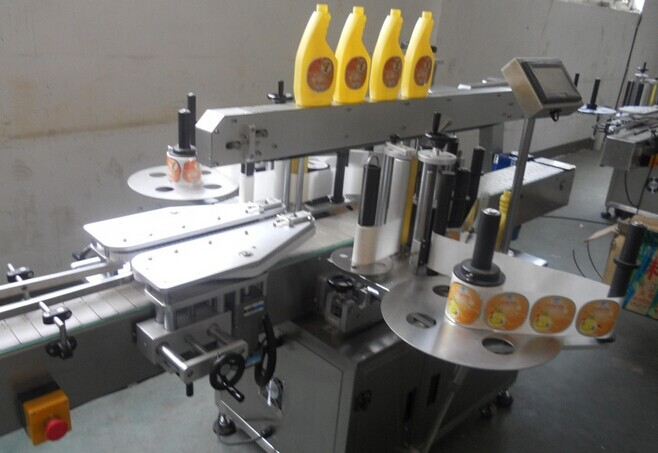 Double sides self-adhesive labeling machine PET/glass bottle labeling meet different request made in 304 stainless steel(China (Mainland))