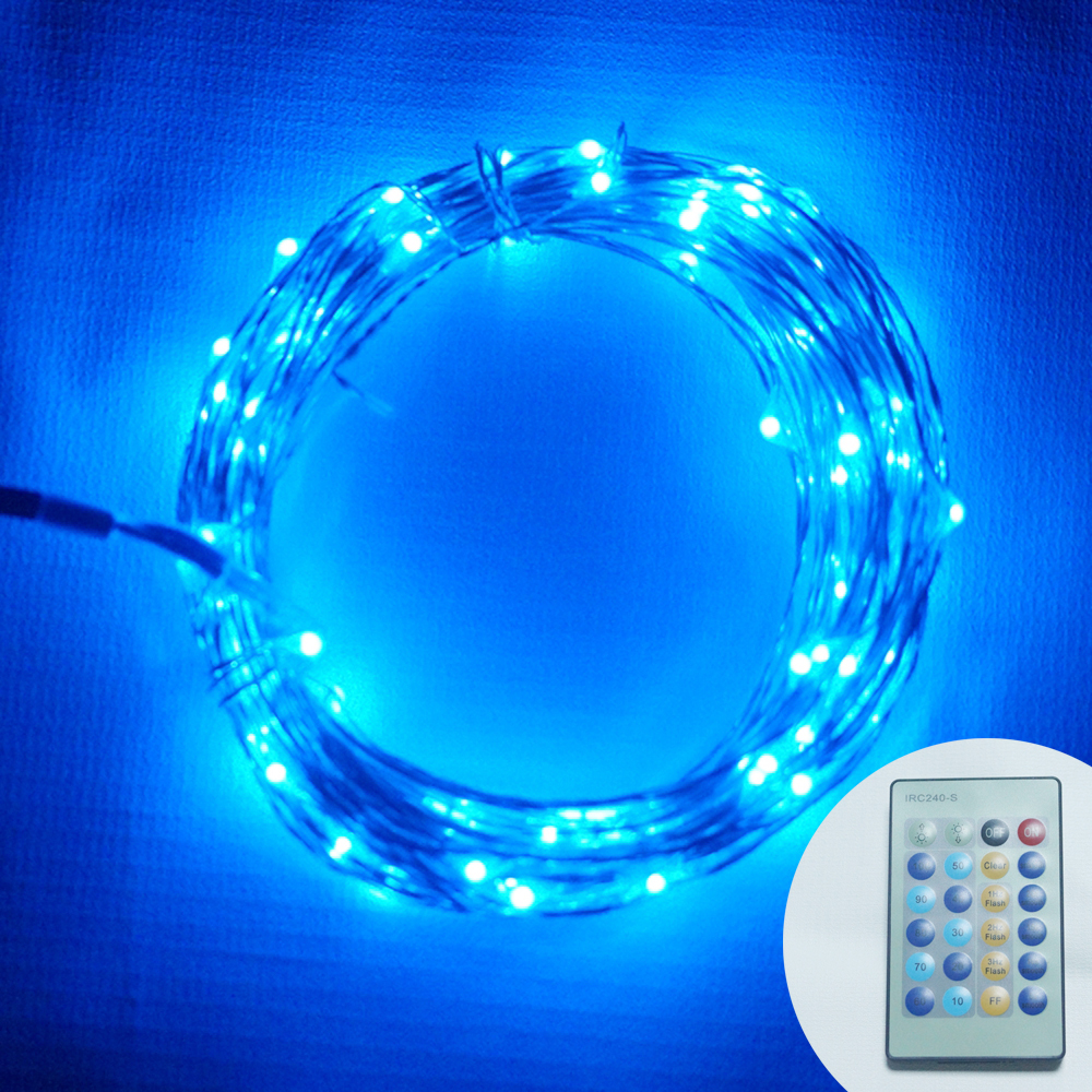 Remote Control 10M 100Led Mini Copper Wire String Lights Fairy Light for Christmas Wedding Party ...