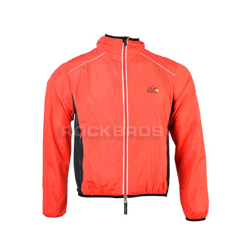 Tour de France ROCKBROS Cycling Clothing Men Women Wear Riding Breathable Reflective Jersey Bicycle Bike Wind Rain Coat Jacket(China (Mainland))