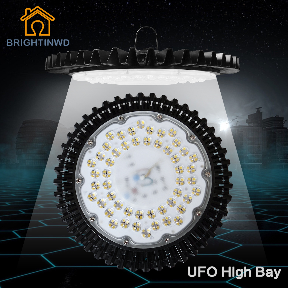 220V IP40 Ultra-thin UFO High Bay Light SMD2835 LED Chip 50W High Power Led Reflector Spotlight For Machine Lamp Garage Light(China (Mainland))