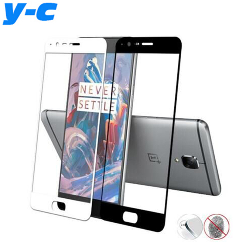Oneplus 3 Tempered Glass Full Cover Original Screen Protector Film Three/3T  -  YongChuang Electronics (HK store Co .,Ltd)