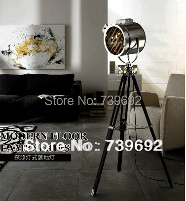Brief modern europe style E27 stainless steel downlight floor lamp stage lights photography light study light tripod floor lamp(China (Mainland))