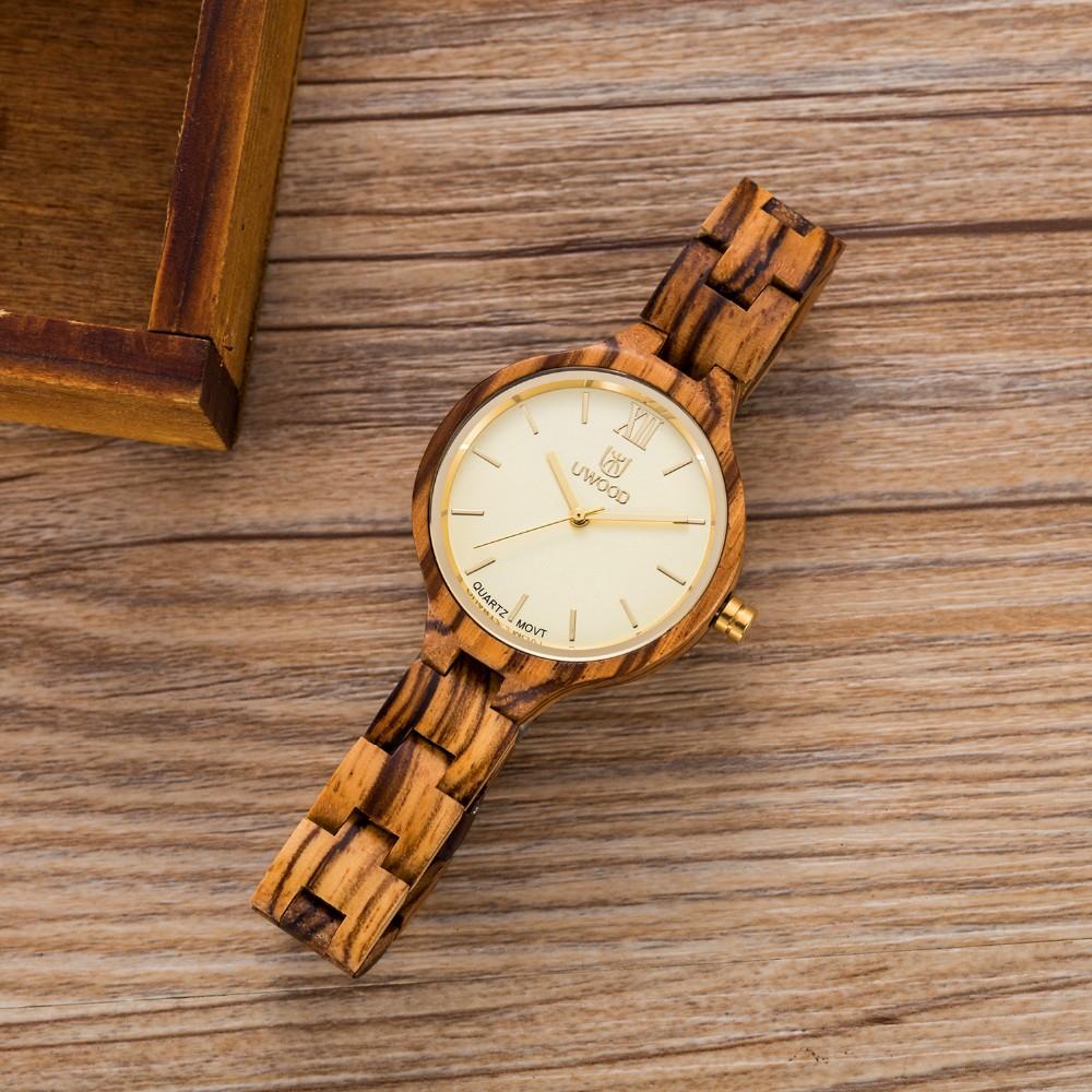 Мода Натурального Дерева Часы женщины Роскошные Часы Кварцевые Часы Женщины Платье Часы Дамы Деревянный Наручные Часы женские Часы Montre