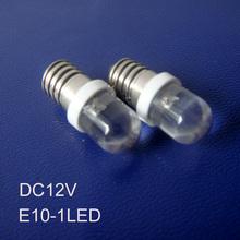 High quality 12V E10 led indicator Lights,12v E10 led signal lights,LED E10 Pilot lamps,E10 led lights free shipping 10pcs/lot(China (Mainland))