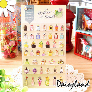 1pack perfume bottle shape design diary deco scrapbooking paper sticker free shipping(China (Mainland))