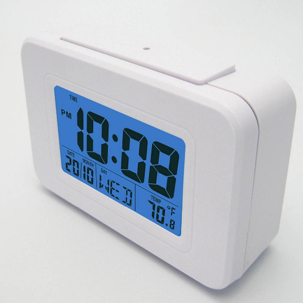 DYKIE Digital Atomic Alarm Clock White/Black with Backlight Snooze Alarm Indoor Thermometer Christmas/Birthday Gift For Clock(China (Mainland))