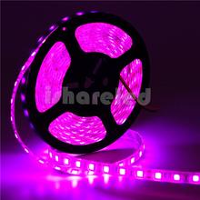 5M 24V 12V flexible light SMD 5050 Pink color strip light Black FPCB 60Led/M led strip IP65(China (Mainland))