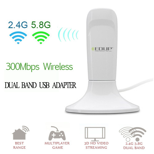 300Mbps Dual band wireless USB Network Card adapter Support Win XP Vista Win 7 Win 8 Linux Mac(China (Mainland))