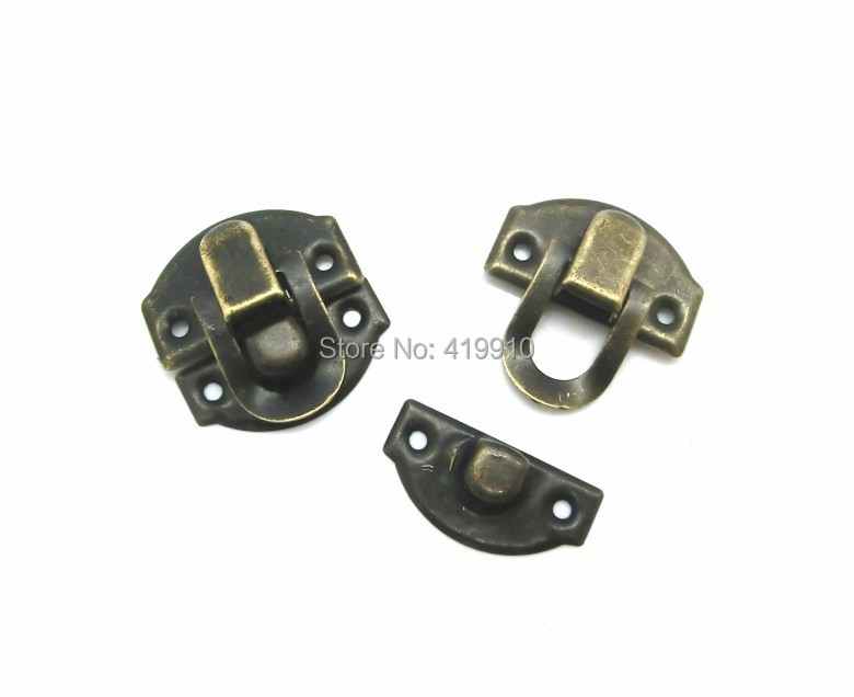 Free Shipping-50 Sets Bronze Tone Jewelry Wooden Case Boxes Making Lock Latch Hardware 28mm x 27mm 27mm x 13mm,D2153<br><br>Aliexpress