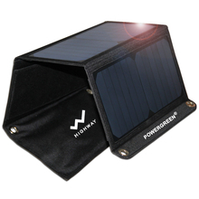 PowerGreen Solar Charger Backpack Battery Bag Foldable 21 Watts Solar Power Bank Solar Panel Charger for Iphone for Samsung