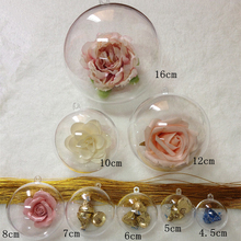 40-90mm Christmas Decorations for home Christmas ball Transparent Xmas Tree hanging ball wedding marriage party decorations