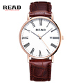 READ new 2017 role luxury watch simple gentleman watches for men brown strap for leather 30m