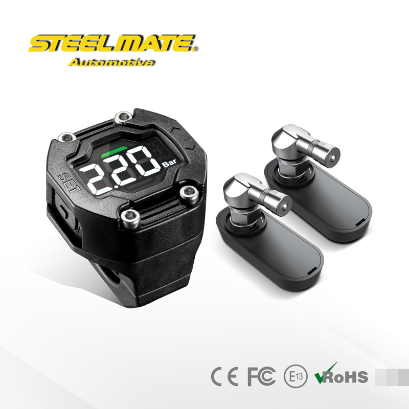 Steelmate TP-90I TPMS for Motorcycle Tire Pressure Monitoring System with Professional Sensor LCD Display Waterproof(China (Mainland))