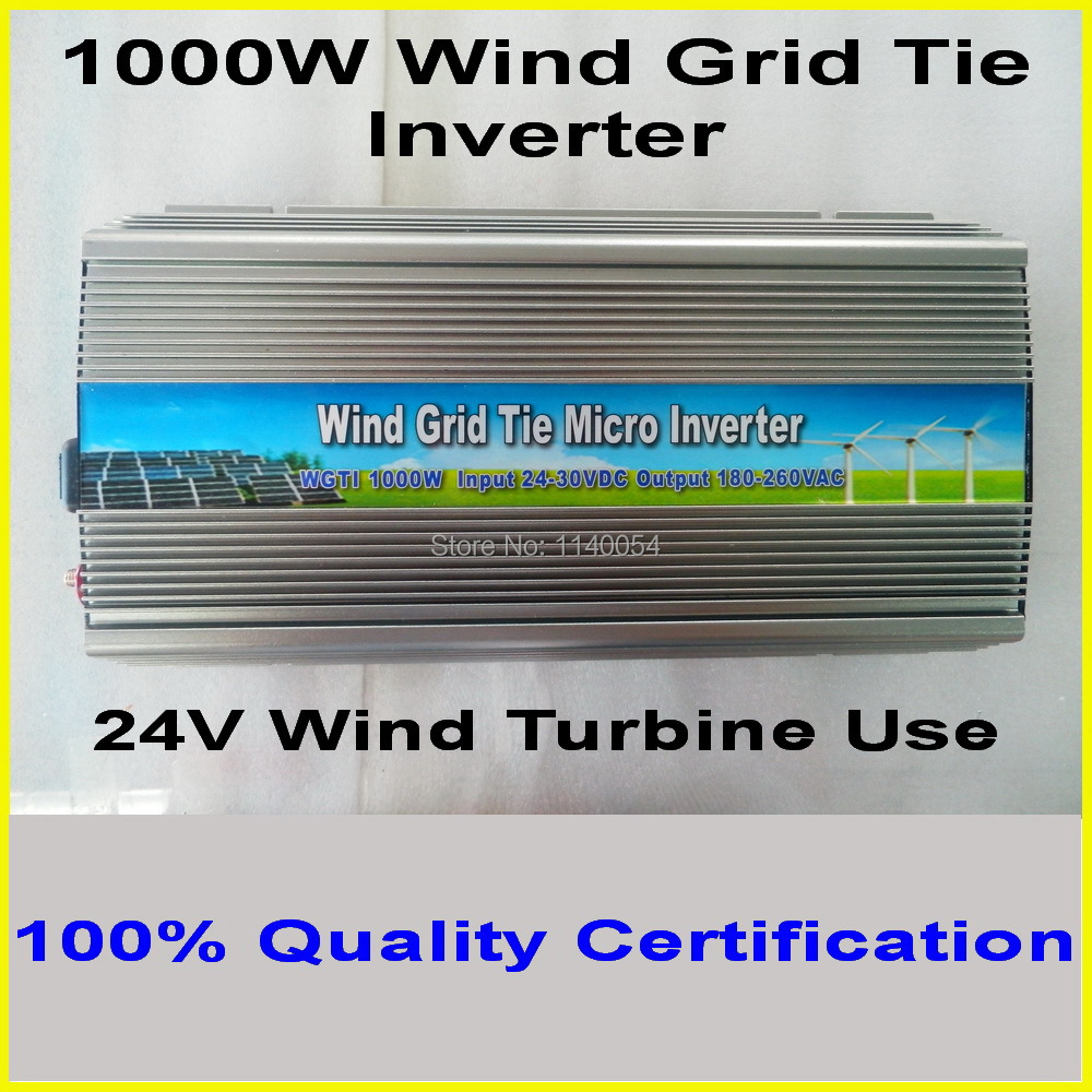 1000W 15-30VDC Wind Grid Tie Inverter with MPPT Function for 1200W 24V Wind Turbine, 90-140V or 180-260VAC Pure SIne Wave Output(China (Mainland))