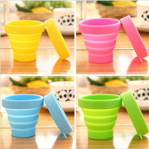 New Hot Portable Silicone Retractable Folding Cup Telescopic Collapsible Outdoor Travel(China (Mainland))