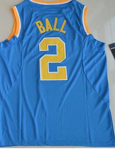 Nike2017 UCLA Bruins Lonzo Ball 2 College tees Authentic Jersey - White Size S,M,L,XL,2XL,3XL(China (Mainland))