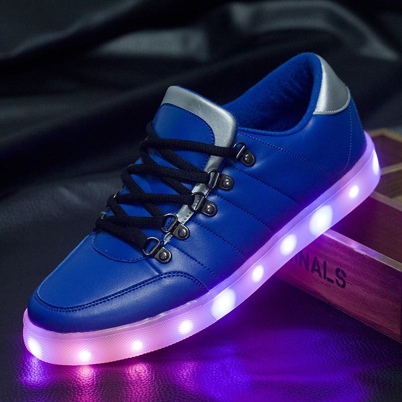 8 farben led leucht schuhe unisex turnschuhe m nner frauen usb lade licht schuhe bunte. Black Bedroom Furniture Sets. Home Design Ideas