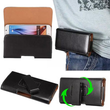 360 Rotation horizontal Vertical PU Leather Cover Case for Jiayu F2 5.2 inch Universal Belt Clip Holster Cell Phone Accessories