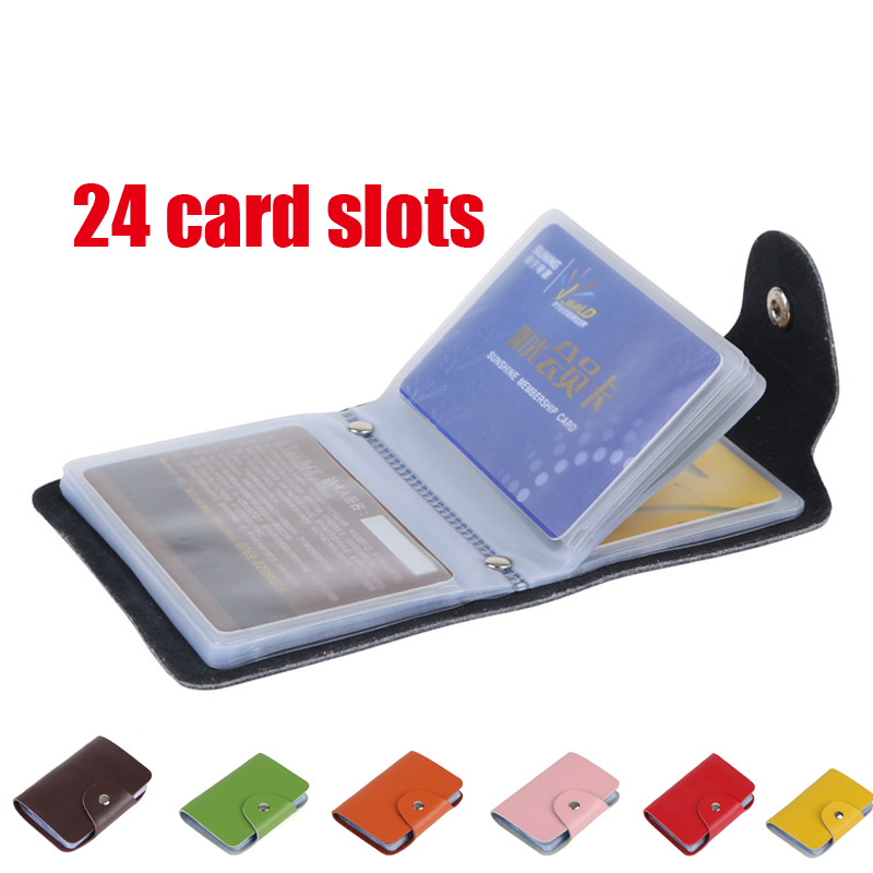 1pcs Free Shipping Men s Women Leather Credit Card Holder Case card holder wallet Business Card