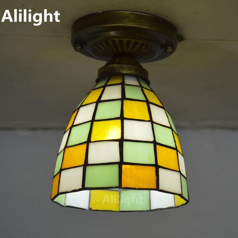 stained glass ceiling light fixtures promotion shop for. Black Bedroom Furniture Sets. Home Design Ideas